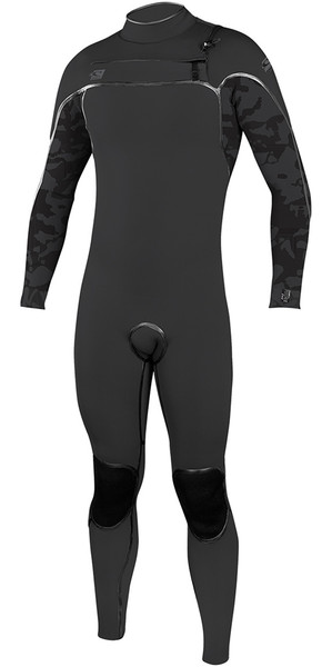 2018 O'Neill Psycho One 3/2mm Chest Zip Wetsuit Jet Camo 4966