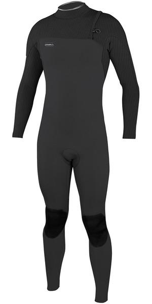2018 O'Neill HyperFreak Comp 4/3mm Zipperless Wetsuit Midnite Oil / BLACK 4971