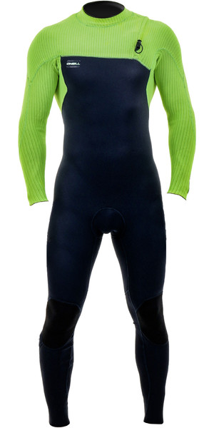 2019 O'Neill Youth Hyperfreak Comp 3/2mm Zip Free Wetsuit Abyss / Day Glo 5006