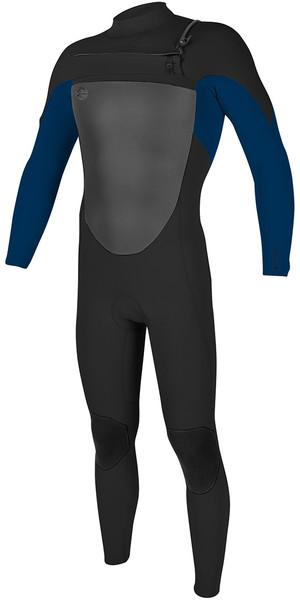 2018 O'Neill O'riginal 4/3mm Chest Zip Wetsuit Black / Deep Sea 5012