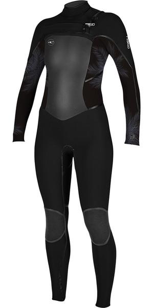 2018 O'Neill Womens Psycho Tech 5/4mm Chest Zip Wetsuit BLACK /Mist 4989