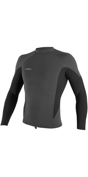 2018 O'Neill Hyperfreak 1.5mm Long Sleeve Neoprene Top Graphite / Black 5034