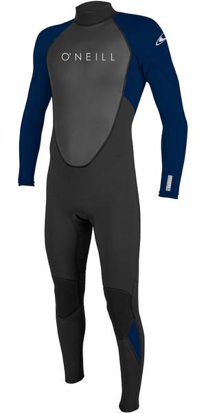 2019 O'Neill Mens Reactor II 3/2mm Back Zip Wetsuit Black / Abyss 5040