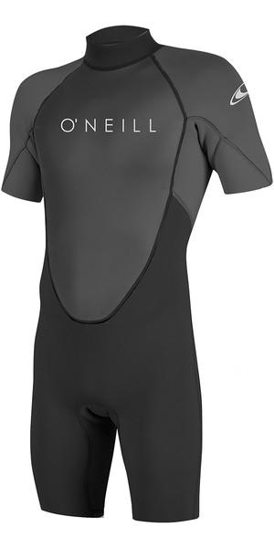 2019 O'Neill Reactor II 2mm Back Zip Shorty Wetsuit BLACK / Graphite 5041