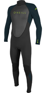 2019 O'Neill Youth Reactor II 3/2mm Back Zip Wetsuit Black / Slate 5044