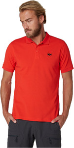 2019 Helly Hansen Driftline Polo Shirt Alert Red 50584