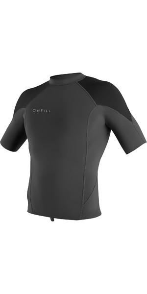 2019 O'Neill Mens Reactor II 1mm Neoprene Short Sleeve Top Graphite / Black / Cool Grey 5081
