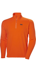 2019 Helly Hansen Mens Daybreaker 1/2 Zip Fleece Bright Orange 50844