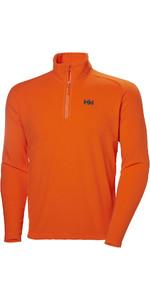 2019 Helly Hansen Mens Daybreaker 1/2 Zip Fleece Bright Orange 50844