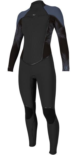2018 O'Neill Womens Psycho One 4/3mm Back Zip Wetsuit BLACK / Mist 5097