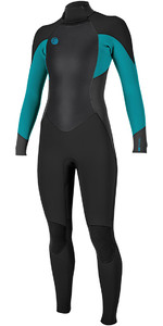 O'Neill Womens O'Riginal 4/3mm Back Zip Wetsuit BLACK / Breeze 5117