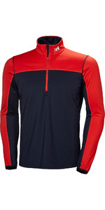 2019 Helly Hansen Phantom 1/2 Zip 2.0 Fleece Navy / Red 51803