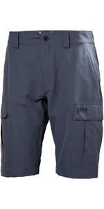 2019 Helly Hansen QD Cargo Shorts Graphite Blue 54154