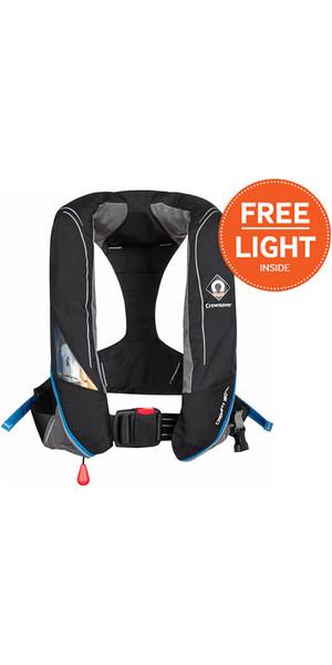 2018 Crewsaver Crewfit 180N Pro Automatic Black Lifejacket 9020BKA + Free Light