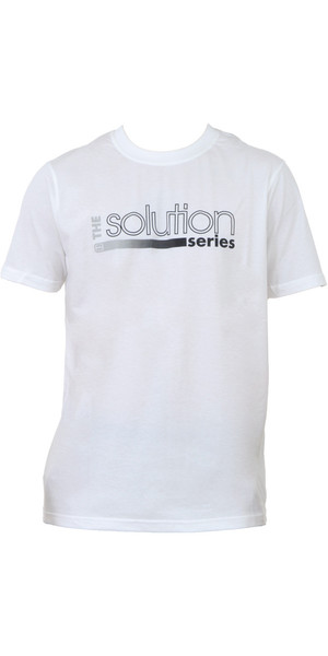 Billabong Mens Solution Tee in WHITE A4AS02
