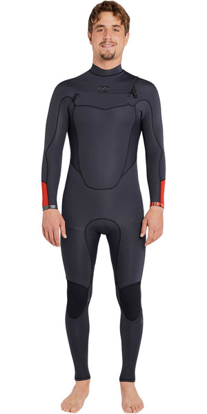 2018 Billabong Absolute Comp 4/3mm Chest Zip Wetsuit ASPHALT F44M21