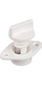 Allen Brothers Drain Socket With Captive Screw Bung White A323