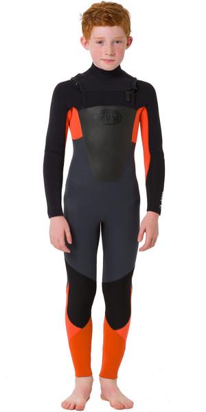 2019 Animal Junior Boys Lava 4/3mm GBS Chest Zip Wetsuit Graphite AW9SQ600