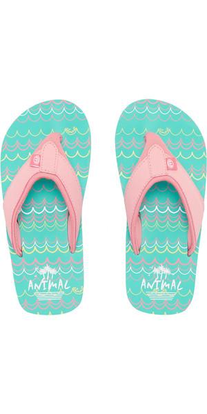 2019 Animal Junior Girls Swish AOP Flip Flops Sugary Pink FM9SQ802