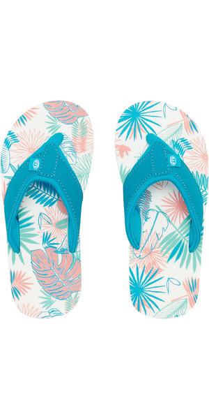 2019 Animal Junior Girls Swish AOP Flip Flops Turquoise FM9SQ802