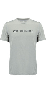 Animal Latero Short Sleeve UV Protection Tee Grey Marl CL8SN022