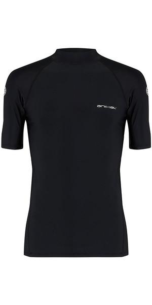 2018 Animal Loet Short Sleeve Rash Vest Black CL8SN020