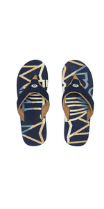 2020 Animal Mens Bazil Logo Flip Flop Sandals FM0SS002 - Indigo Blue