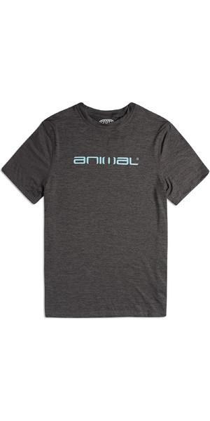 2019 Animal Mens Latero Short Sleeve UV Protection Tee Dark Charcoal Marl CL9SQ019