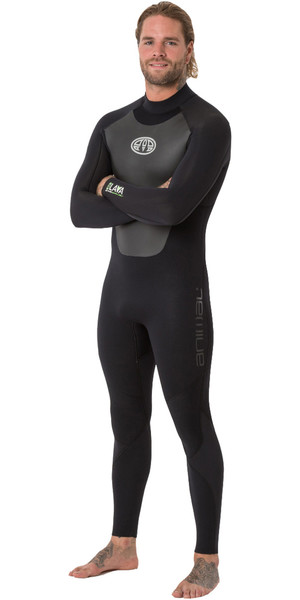 2018 Animal Mens Lava 5/4/3mm Back Zip GBS Wetsuit Black AW8WN105