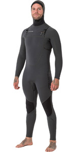 Animal Mens Phoenix Pro 5/4/3mm Hooded GBS Chest Zip Wetsuit Graphite Grey AW8WN100