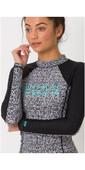 2019 Animal Womens Keshia Waves Long Sleeve Rash Vest Filanium Grey CL9SQ342