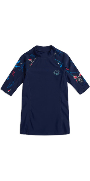 2019 Animal Womens Nessea Short Sleeve Rash Vest Mid Navy CL9SQ341