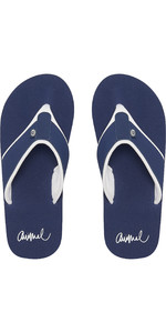 2019 Animal Womens Swish Block Flip Flops Mid Navy FM9SQ303