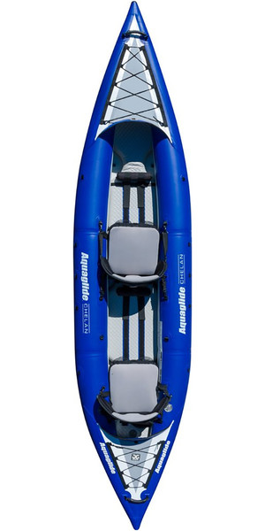 2018 Aquaglide Chelan HB TWO 1-2 Man High Pressure Inflatable Kayak Blue - Kayak Only AGCHE2