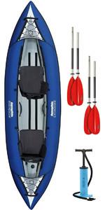 2019 Aquaglide Chinook 2 Man Inflatable Kayak BLUE + 2 FREE PADDLES + Pump