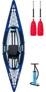2019 Aquaglide Columbia 1 Man Inflatable Touring Kayak + 1 FREE PADDLE + PUMP