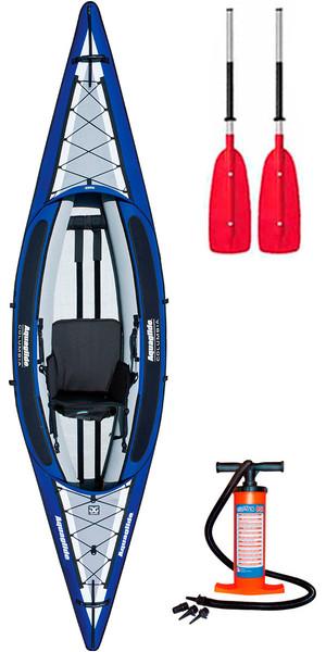 2018 Aquaglide Columbia  1 Man Inflatable Touring Kayak + 1 FREE PADDLE + PUMP