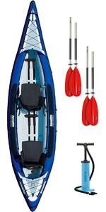 2019 Aquaglide Columbia XP 2 Man Touring Kayak + 2 FREE PADDLES + PUMP