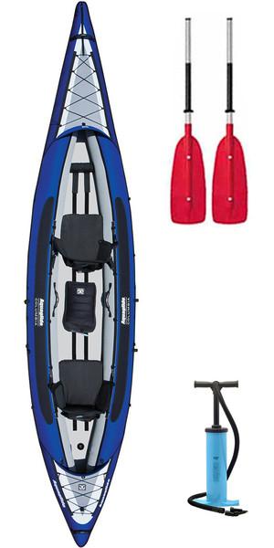 2018 Aquaglide Columbia XP Tandem 3 MAN XL Kayak + 2 FREE PADDLES + PUMP