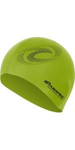 2019 Aropec Silicone Swim Cap Lime CAPGR1