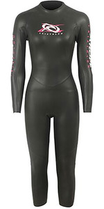 2019 Aropec Womens Reindeer 3/2mm Trialthon Back Zip Wetsuit Black DS3T503W