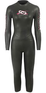 2019 Aropec Womens Reindeer 3/2mm Trialthon Back Zip Wetsuit Black DS3T503W