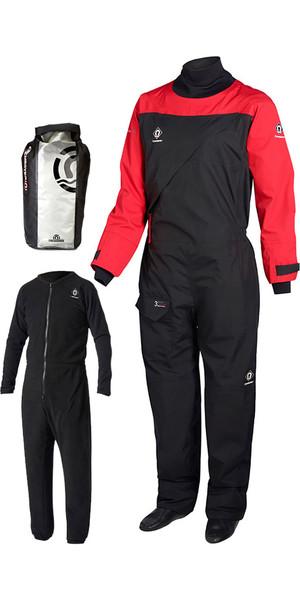 2018 Crewsaver Atacama Sport Drysuit RED / BLACK INCLUDING UNDERSUIT & DRY BAG