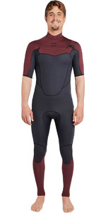 Billabong Absolute 2mm Chest Zip Short Sleeve Wetsuit BIKING RED H42M25