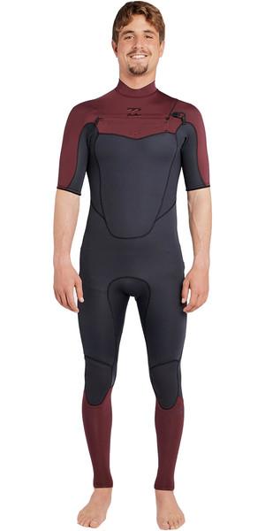 2018 Billabong Absolute 2mm Chest Zip Short Sleeve Wetsuit BIKING RED H42M25