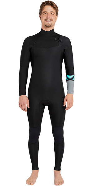 2018 Billabong Revolution Tribong 5/4mm Chest Zip Wetsuit BLACK 2 F45M16