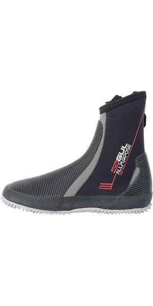 2018 Gul All Purpose 5mm Neoprene Boots Black / Grey BO1276