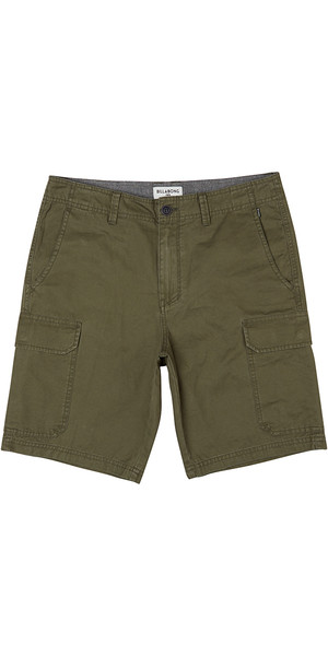 2018 Billabong All Day Cargo Walk Shorts DARK OLIVE H1WK21