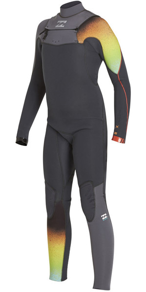 2018 Billabong Boys Furnace Carbon Comp 4/3mm Chest Zip Wetsuit GRAPHITE F44B11