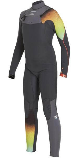 2018 Billabong Boys Furnace Carbon Comp 3/2mm Chest Zip Wetsuit GRAPHITE F43B11
